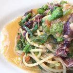 今月のコース内のパスタは 【スパゲティ 蛍烏賊と菜の花とカラスミ】